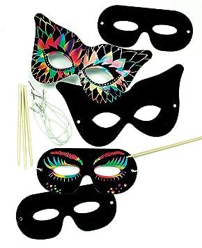 Baker Ross Kratzbild Masken Kratzbilder In Verschiedenen