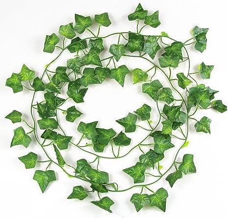7.87ft Artificial Ivy Leaf Garland Plants Fake Vine Foliage Flowers Garden Decor