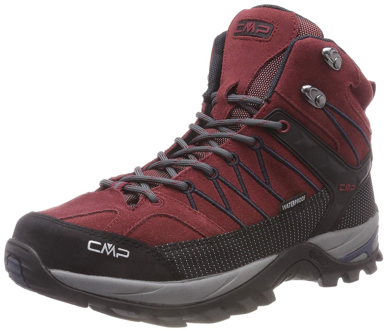 CMP Rigel - Zapatillas de Trekking y Senderismo de Cuero Hombre 42 EU Rojo (Syrah-antracite 63bn)