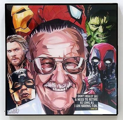Amazoncom Stan Lee Marvel Dc Comics Poster Pop Art Canvas Quotes