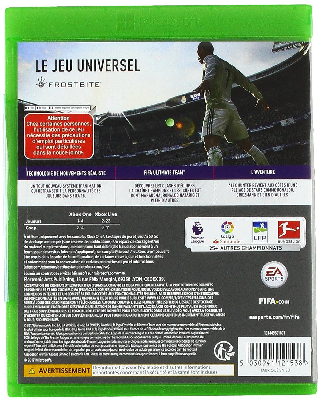 FIFA 18 - Xbox One [Importación francesa]: Amazon.es: Electrónica