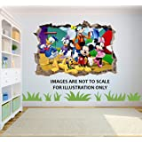 Disney Mickey Mouse Club House Characters 3D Effect View Wall Sticker Poster