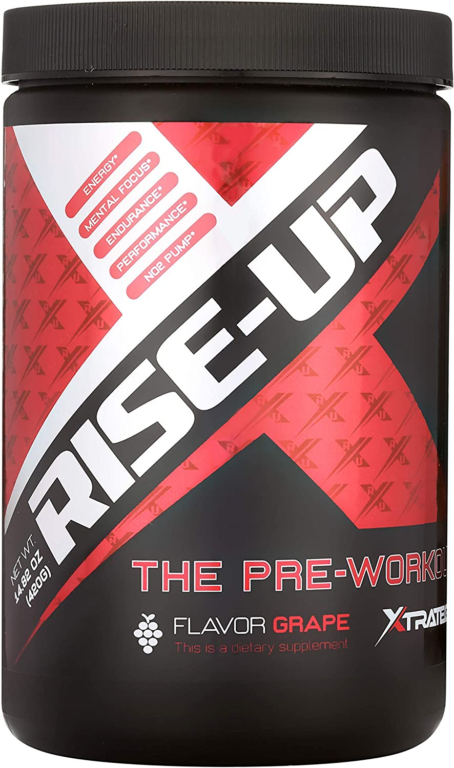 PRE Workout Rise-UP XTRATEGY Nutrition by Coach Bueno Improve Brain Function Concentration and Alertness
