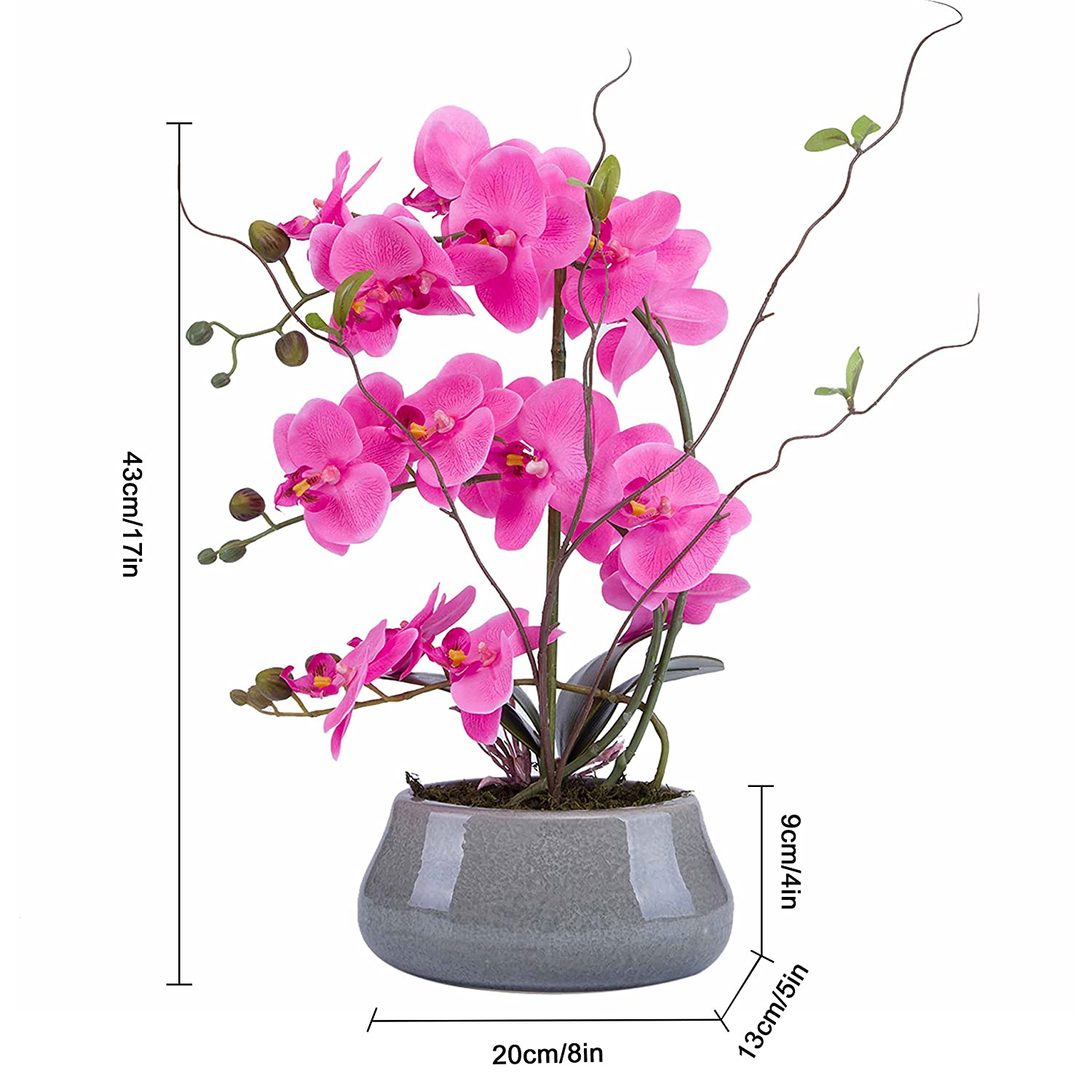 Amazon Flower Arrangement With Decorative Vase Full Artificial