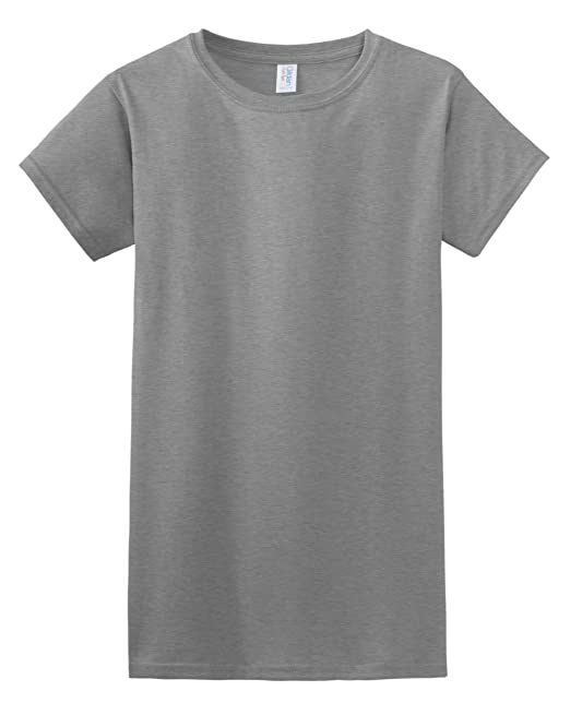 Gildan Damen Kurzarm T-Shirt S,Grau