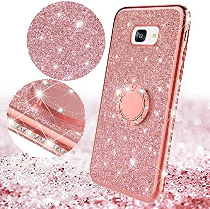 Surakey Compatible avec Coque Samsung Galaxy A5 2017 Paillette Brillante Bling Glitter Bumper Transparent Gel Silicone TPU Souple Housse Etui ...