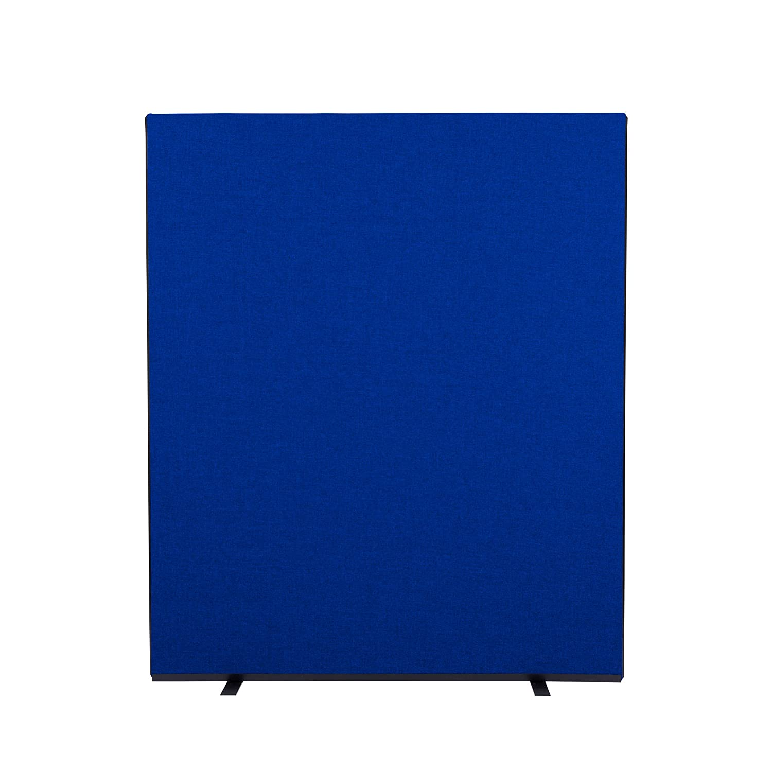Office Screen Partition 1500mm W x 1800mm H woolmix fabric Blue Portrait