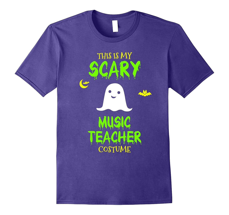 Scary Music Teacher Costume Halloween T-Shirt-T-Shirt