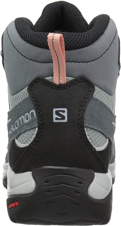 SALOMON Ellipse 2 GTX Mid LTR W, Scarpe da Escursionismo e Multifunzione Impermeabili Donna Grigio Lead Stormy Weather Coral Almond