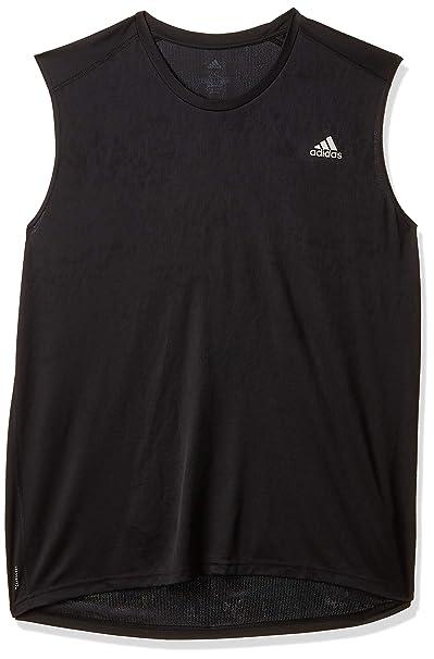adidas Own The Run Sleeveless tee M T Shirt, Hombre, Black