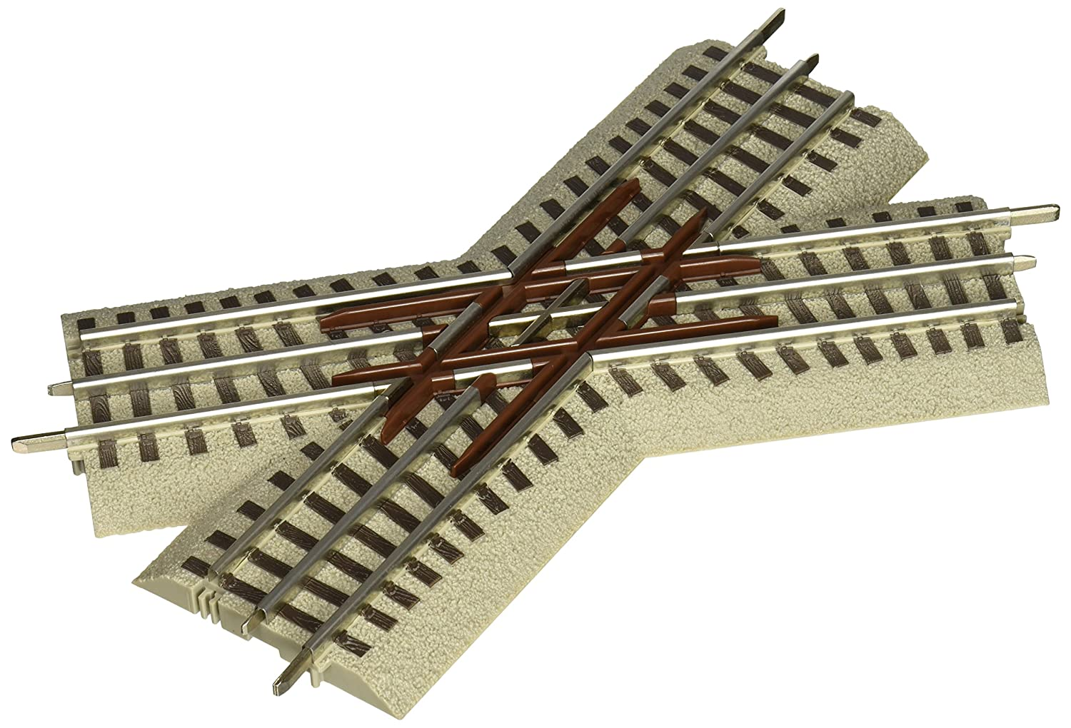 Lionel FasTrack 45 degree Crossover Train