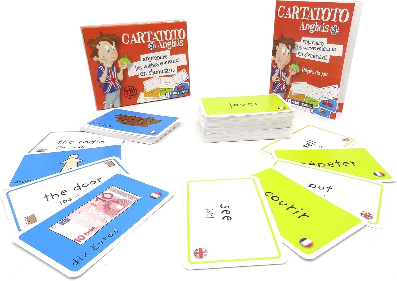 Jeu De 110 Cartes Cartatoto Anglais N3 Les Verbes Courants Amazon Fr Jeux Et Jouets