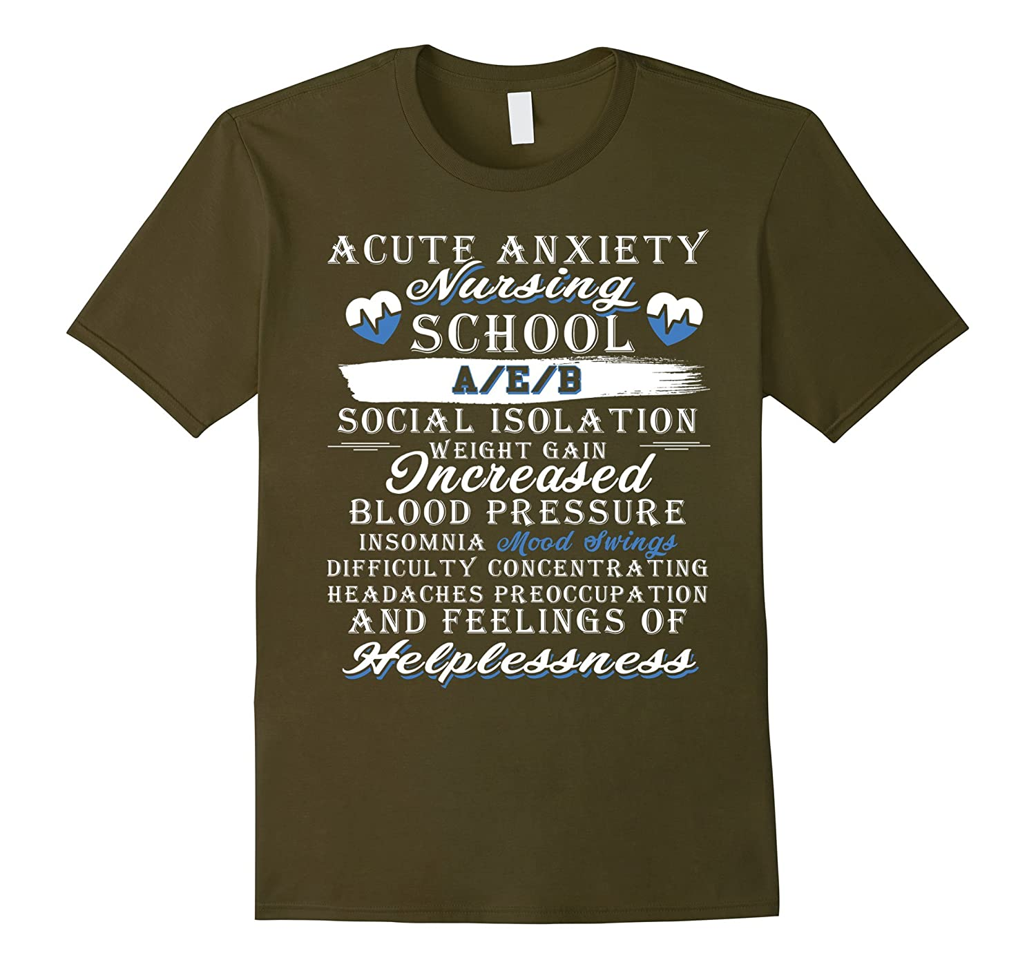 A Cute Anxiety Nursing School T Shirt My Job T Shirt-TJ