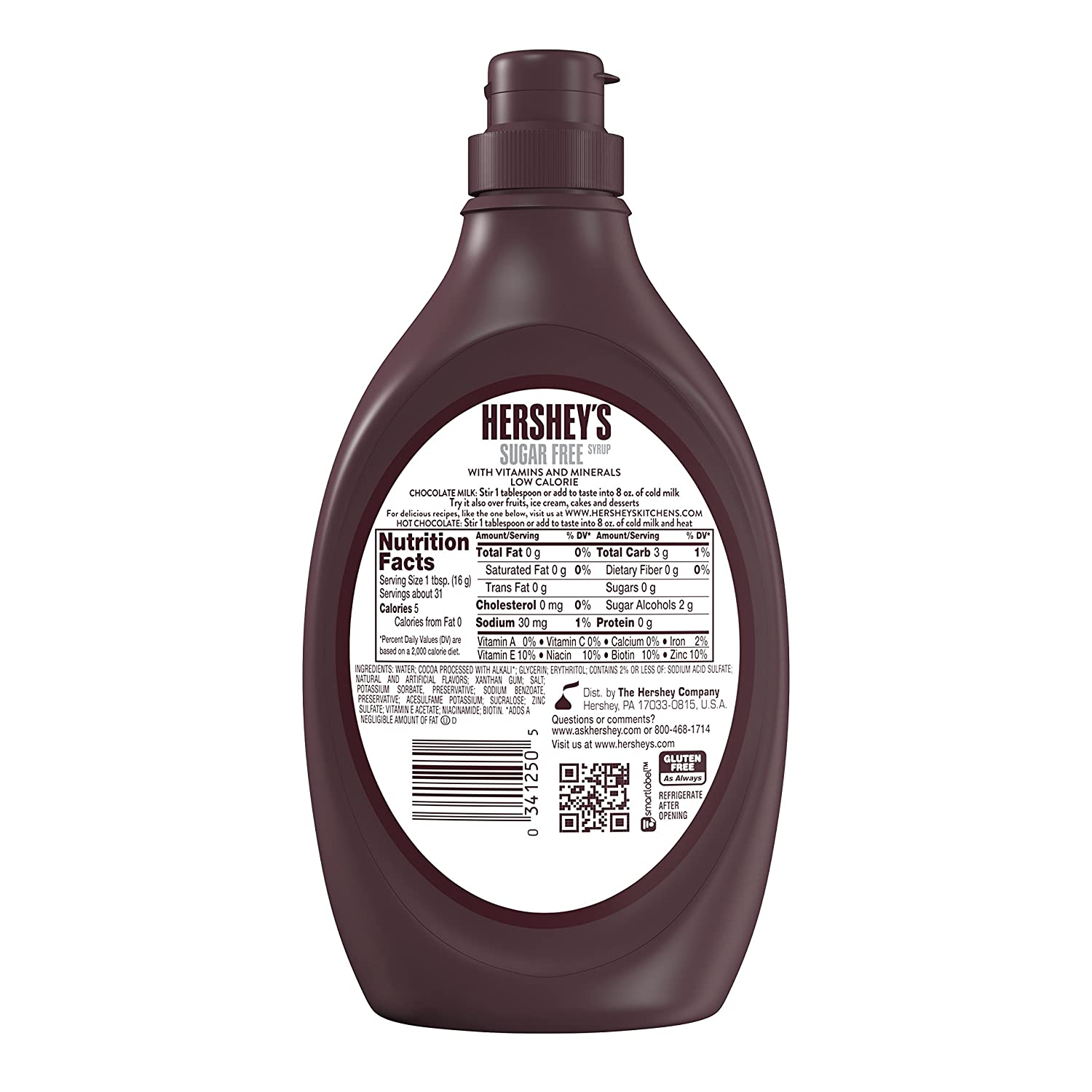 Amazon.com : HERSHEY'S Syrup, Chocolate Syrup, Dessert Topping ...