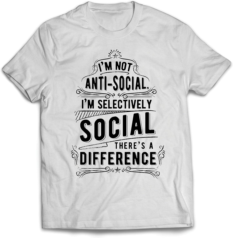 lepni.me Camisetas Hombre No Soy Antisocial Solo selectivamente Social, Gracioso Diciendo, Citas de Humor sarcástico: Amazon.es: Ropa y accesorios