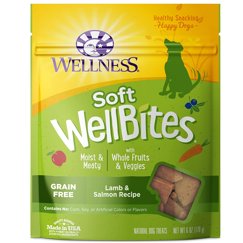 Wellness Soft WellBites Natural Grain Free Dog Treats, Lamb & Salmon