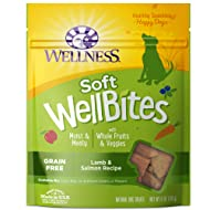 Wellness Natural Pet Food Grain Free Wellbites Soft Lamb & Salmon Recipe Dog Treat, 6 oz