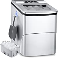 Portable Ice Maker, 26Lbs/24H Self-Cleaning Ice Maker Machine for Countertop, 9 Ice Cubes S/L in 6mins Ice Maker Machine…