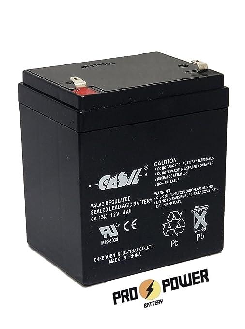 CASIL CA-1240 12V 4AH SLA - Batería para cabrestante eléctrico de 12 V