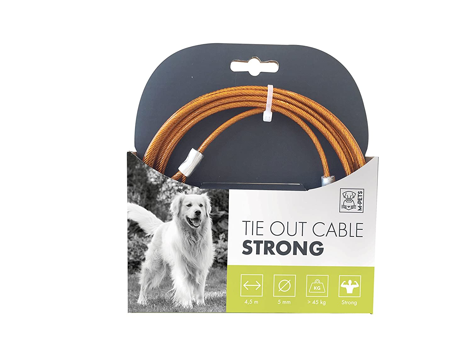 MPETS 10800199 Câble d'attache Strong pour Chien - Lot de 2