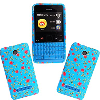 new styles 894d1 165ae For Nokia Asha 210 Pink Flower Floral Style 1 Rubber Silicone Skin ...