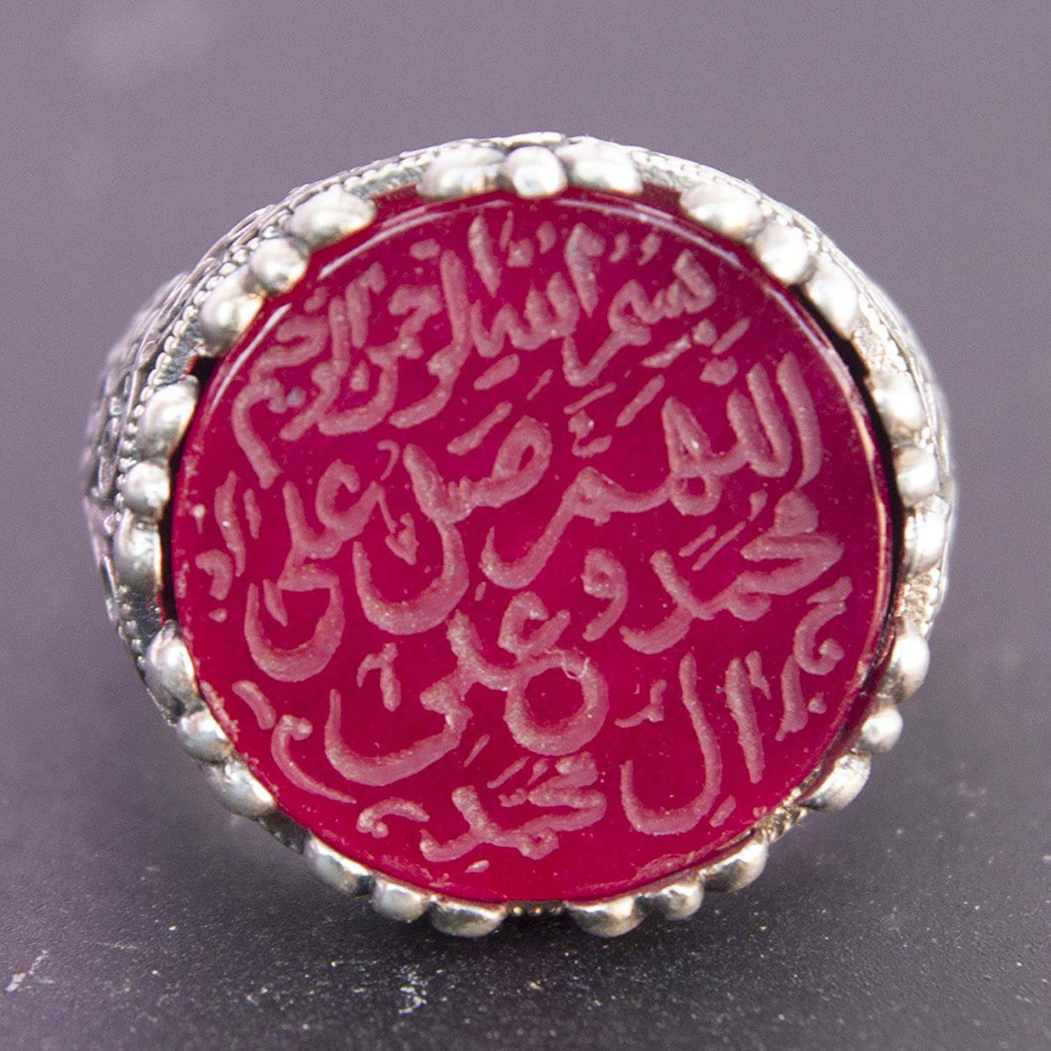 Sterling silver mens islamic ring, agate stone, handmade, Express ...