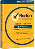 Symantec Norton Security Deluxe 3.0 - Seguridad y antivirus (Caja, Full license, Android, iOS, ITA)