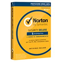 Norton Security Deluxe 2018 | 5 Dispositivi| 1 Anno | Protezione Antivirus | PC/Mac/iOS/Android | Download