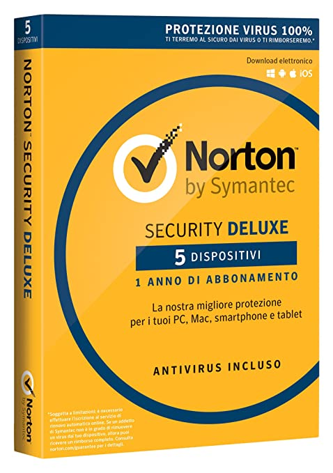 96 opinioni per Norton Security Deluxe 2017- 5 dispositivi, 1 anno