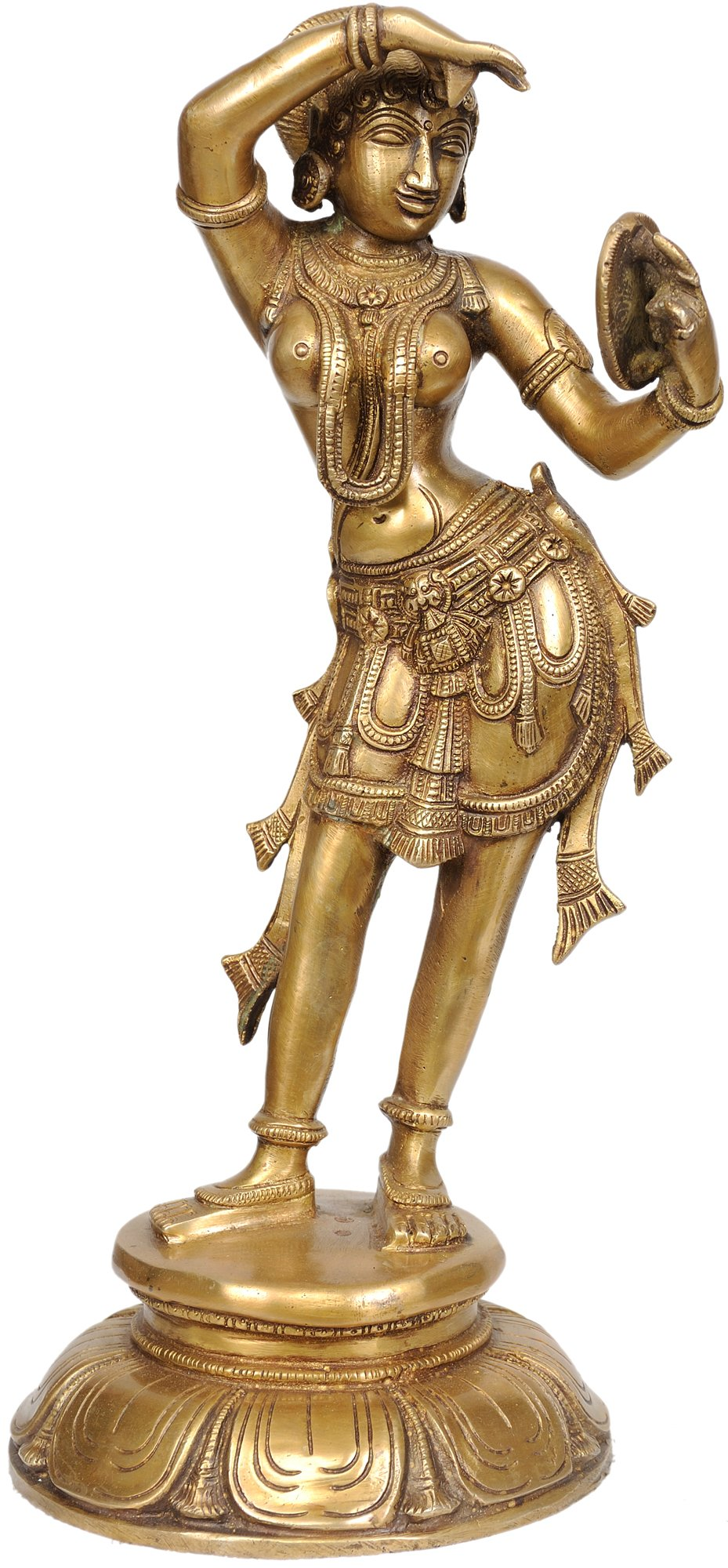 ZAD54 The Apsara Applying Vermillion (A Statue Inspired by Khajuraho) - Brass Statue