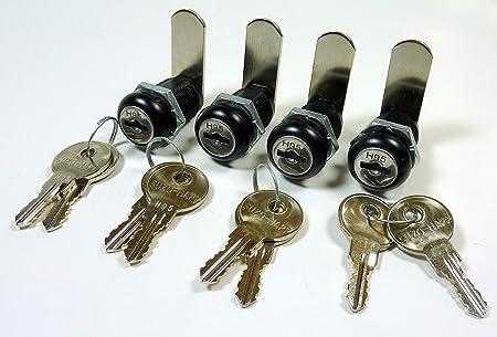 cerradura de llave cajas y muebles 10,6cm * 4 cm DECARETA Cerradura de llave 2 piezas cerraduras de armario con 4 llaves pestillo de cerradura puertas candado de armario armarios