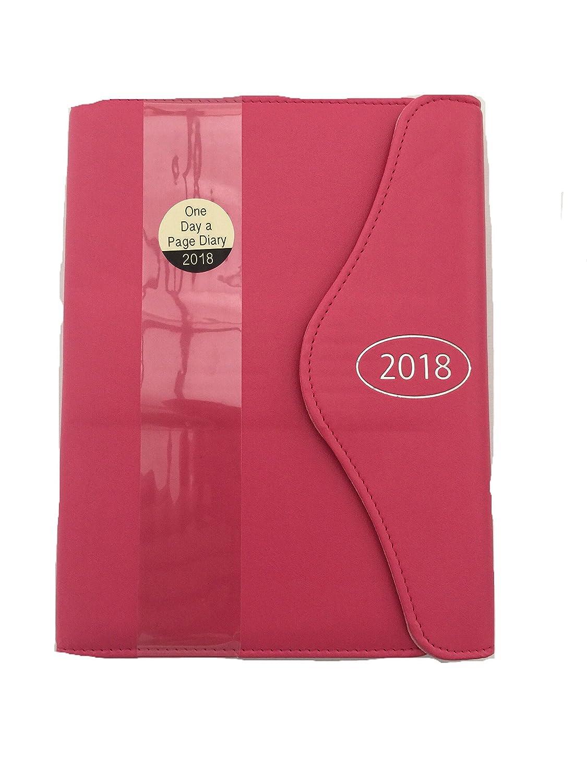"""Agenda """"un giorno per pagina"""" con penna, formato A5, anno 2018, colore rosa Selective"""