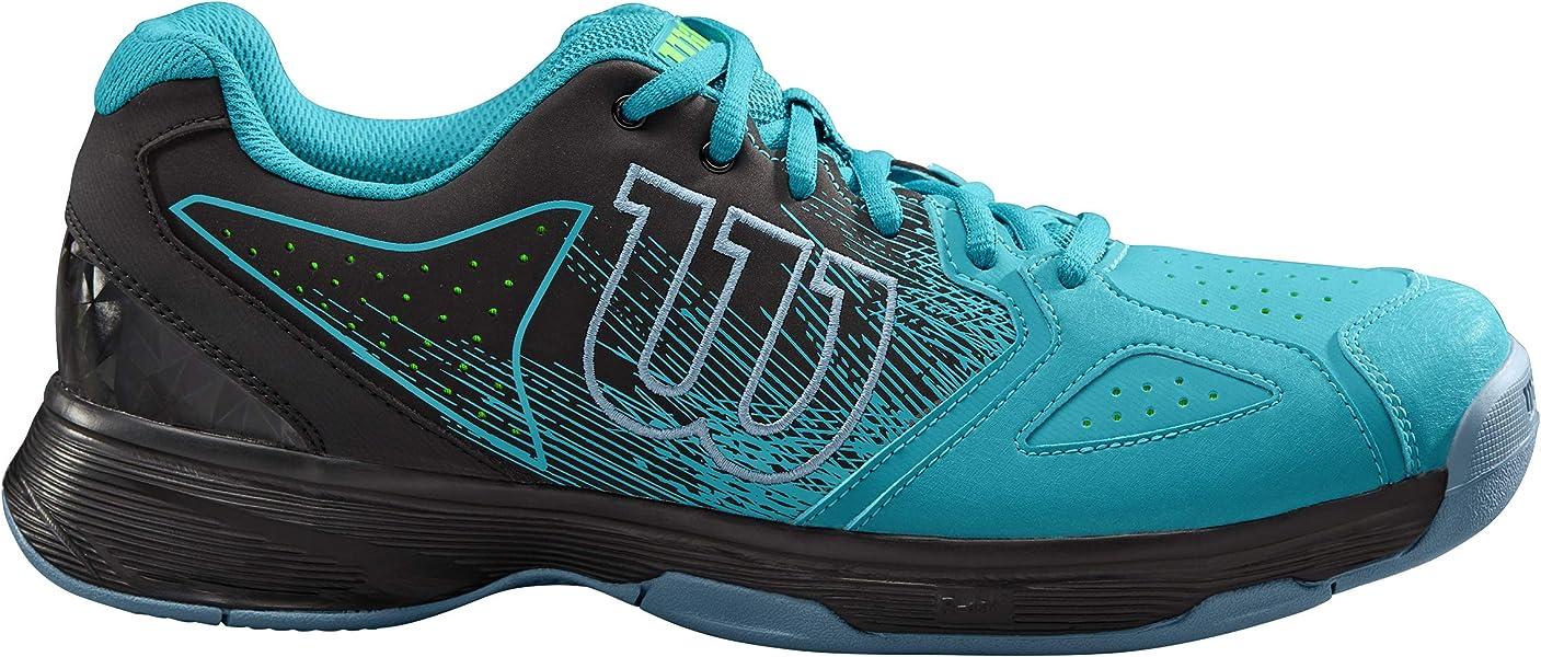 Wilson Kaos Stroke, Zapatillas de Tenis para Hombre, Azul (Capri Breeze/ Black/ Gecko Green), 43 1/3 EU