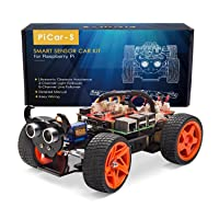 Sunfounder Raspberry Pi Car DIY Robot Kit for Kids and Adults Deals