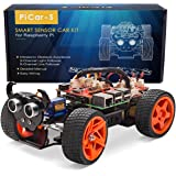 SunFounder PiCar-S Kit for Raspberry Pi 3/2/B+ Smart Robot Car Line Following Module Ultrasonic Sensor Light Following Electronic Toy with Detail Manual