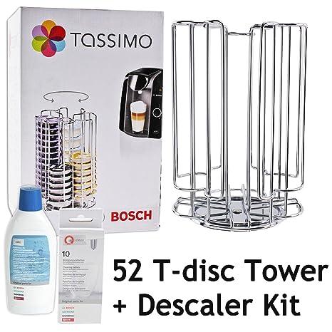 Rotación de Bosch Tassimo 52 T-Disc de la cápsula de titular de la torre + + líquido de la máquina de café ...