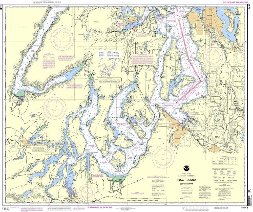 Puget Sound-southern part NOAA Chart 18448