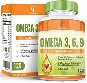 Omega 3 - Aceite de Pescado Omega-3-1000mg - Con Aceite de Linaza, de Girasol y Vitamina