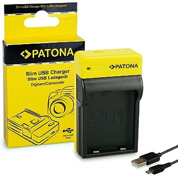 PATONA Estrecho Cargador de Batería Adecuado para Nikon EN-EL14 Bateria Compatible con Nikon P7700, P7800, D3400, D5500, D5600
