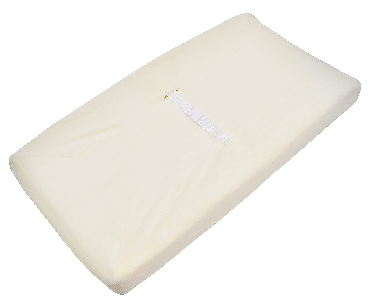 TL Care Heavenly Soft Chenille Fitted Contoured Changing Pad Cover, Ecru 3015-Ecru