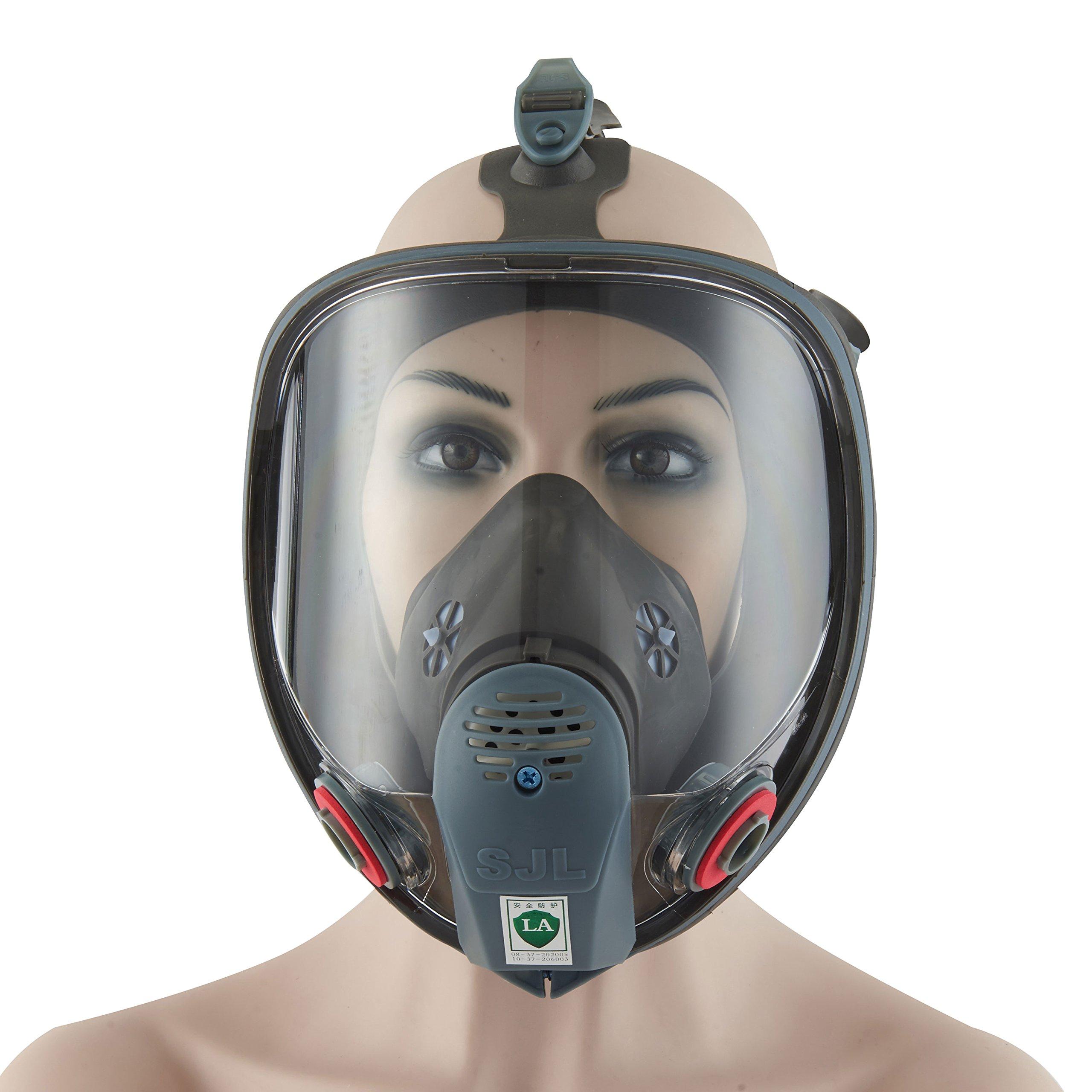 Holulo Organic Vapor Respirator Full Face Respirator Respiratory Protection Paint Chemical Formaldehyde Full w/Activated Carbon Respirator