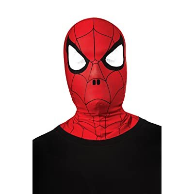 Rubies Marvel Ultimate Spider-Man Overhead Fabric Mask, Child Size: Toys & Games