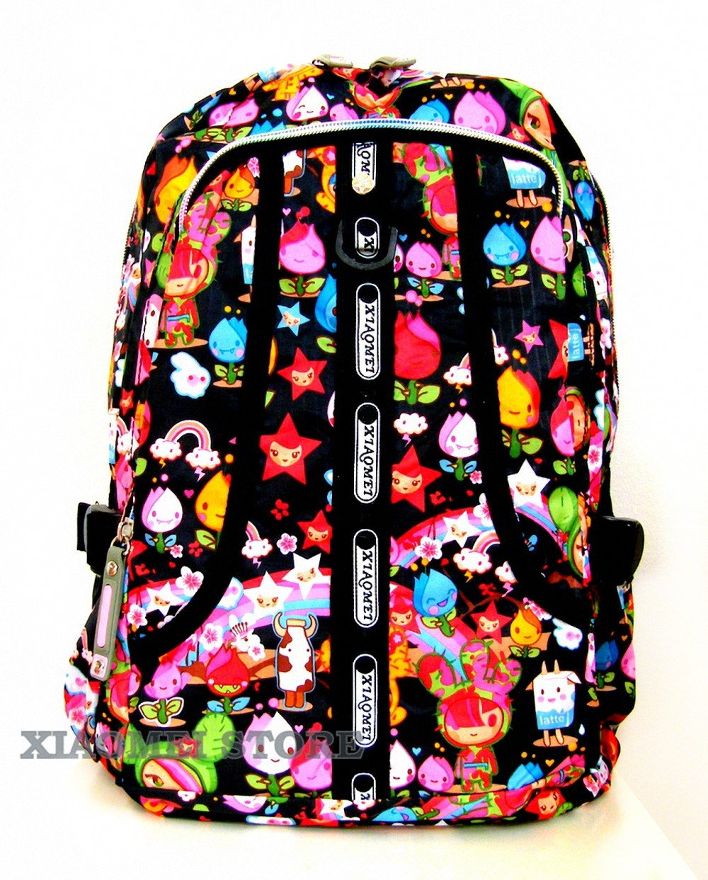 XIAOMEI Bunte Cartoon A4 Rucksack 8130 A für Reisen, Urlaub, Schule oder College