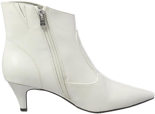 Tamaris 25328, Botines para Mujer, Blanco (White 100), 42 EU