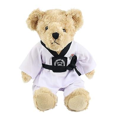 Houwsbaby Teddy Bear Stuffed Animals with Taekwondo Uniform Birthday Gift for Kids Boys Girls Mother's Day, 8'': Toys & Games