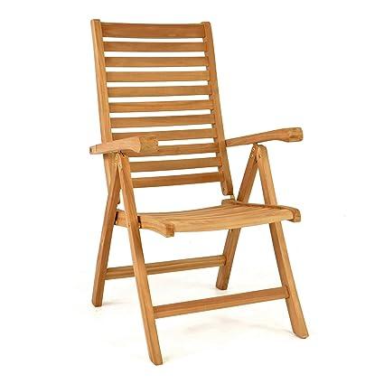 Gartenstuhl Holz Klappbar.Divero Stuhl Teak Holz Klappbar Massiv Gartenstuhl Teakstuhl Holzstuhl Behandelt
