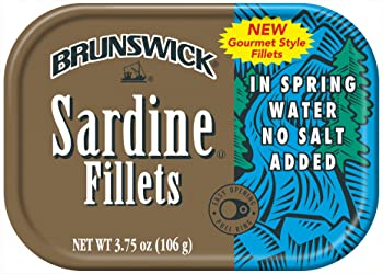 BRUNSWICK Canned Sardine Fillets in Spring Water