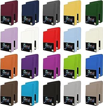 2er Pack Jersey Spannbettlaken Spannbetttuch Baumwolle 180X200 90X200 140X200