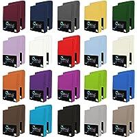 NatureMark 2er Pack Jersey Spannbettlaken, Spannbetttuch 100% Baumwolle in vielen Größen und Farben MARKENQUALITÄT ÖKOTEX Standard 100