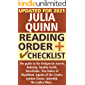 Julia Quinn Reading Order and Checklist: The guide to the Bridgerton novels, Rokesby, Smythe-Smith, Bevelstoke, Two…